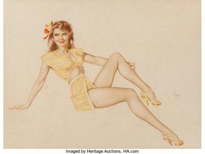 Pin-Up in Yellow